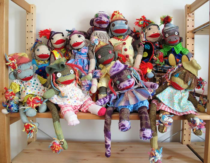 vintage sock monkeys