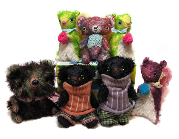 mini mohair bears