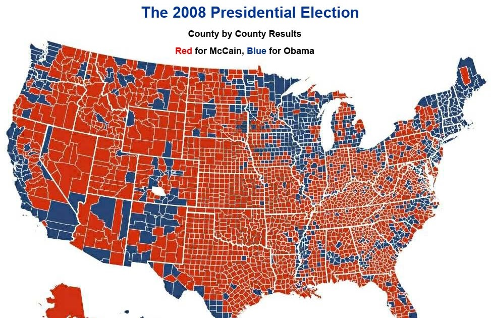 Election 2008   Infotainment and Political Blog  Presidential Voting Map 2008