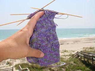 sock with ocean