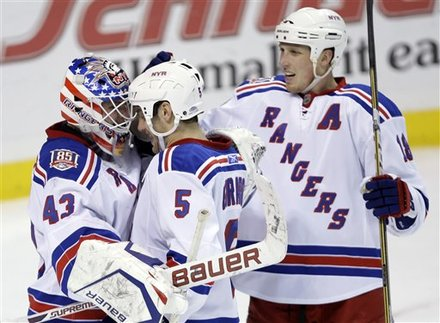 After a dreadful first period where the Rangers worked the exhaustion out  of their bodies a037c625cbf1