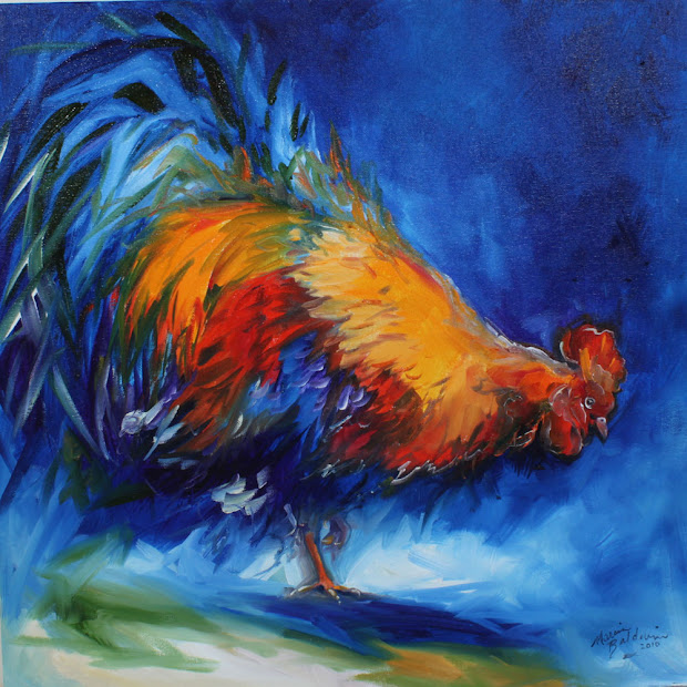Marcia Baldwin Rooster Paintings