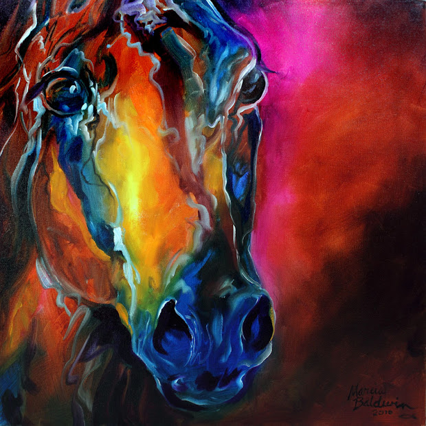 Abstract Horse Oil Painting Art