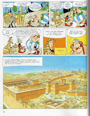 Asterix and Obelix arrive in Jerusalem with their friend Joshua Ben Zedrin