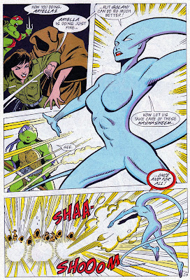 Ariella transforms into Golani to assist the turtles