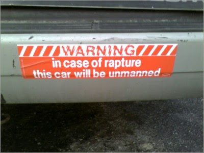 I love this bumper sticker such a creative idea and a great way to spread the word and warning