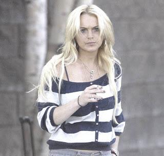 Smoking Lindsay Lohan 4