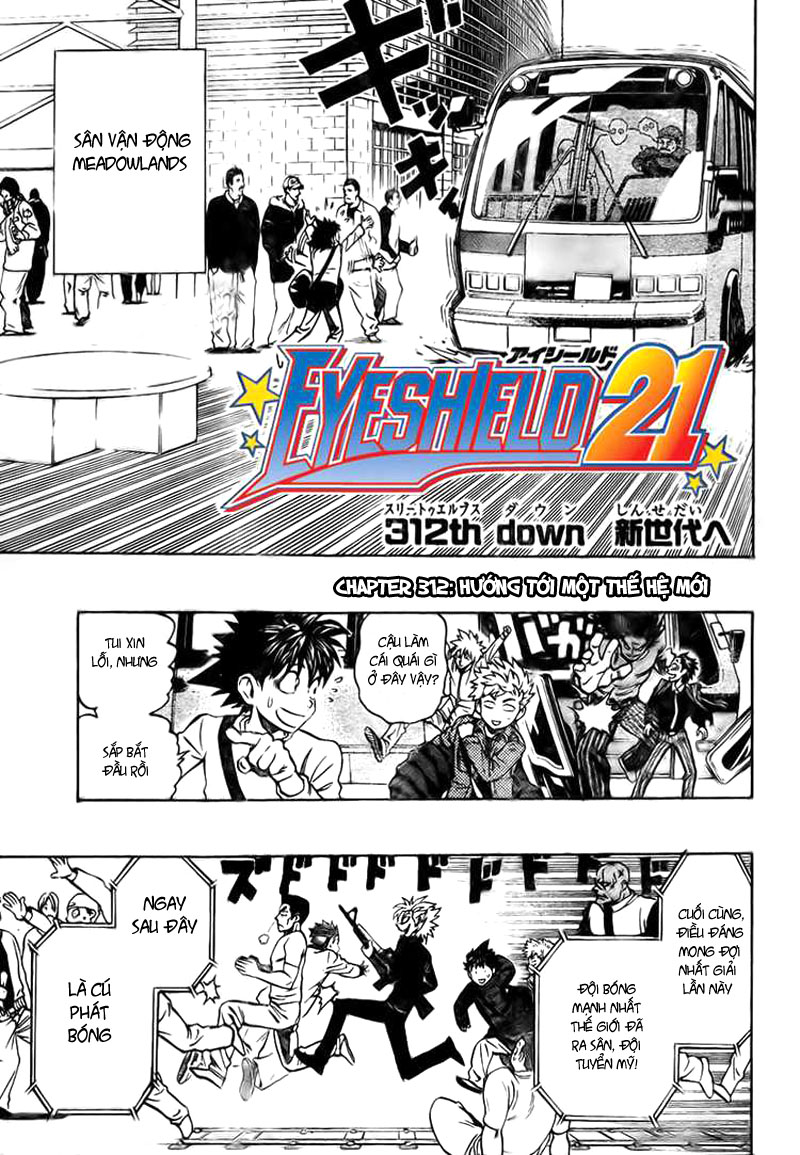 Eyeshield 21 chapter 312 trang 1