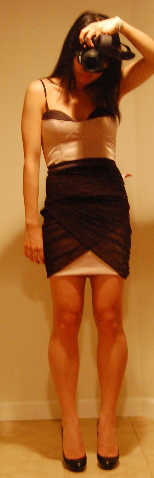 Cocktail Dress Hour – ASOS Petite Contrast Cup Mesh Dress