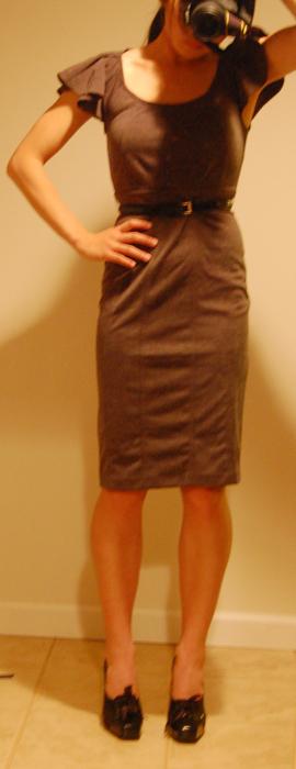 Work Outfits : Rampage Dress + Alberta Ferretti Oxfords