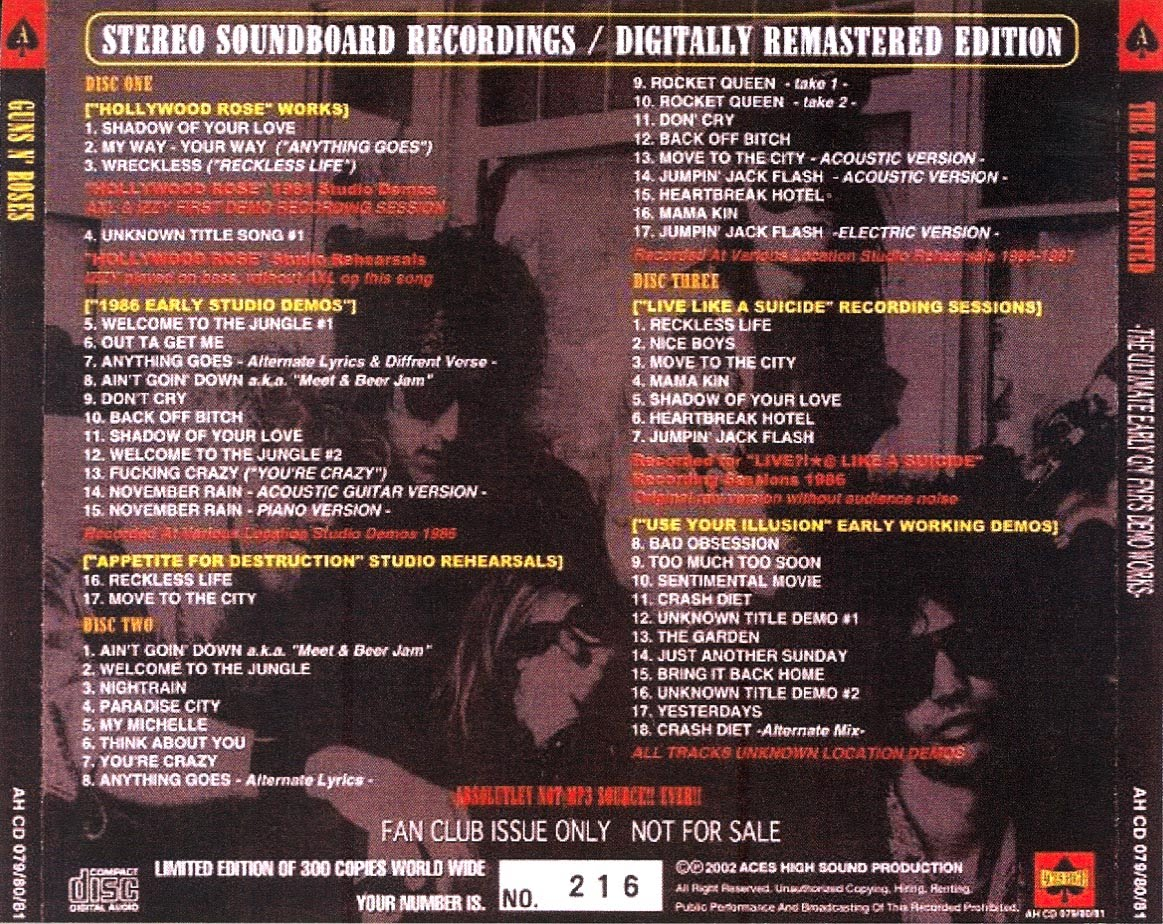 U2start com | Guns N' Roses - ''The Hell Revisited'' (Aces High