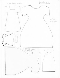 dress template or pattern for cards scrapbooking