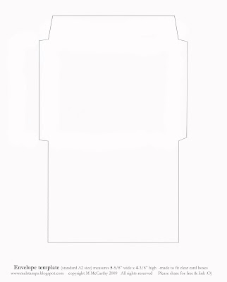 Mel stampz new envelope templates standard a2 size two for 6 x 8 envelope template