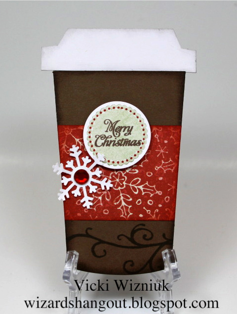 Coffee Christmas Cards.Wizard S Hangout Christmas Coffee Cup Pocket Card