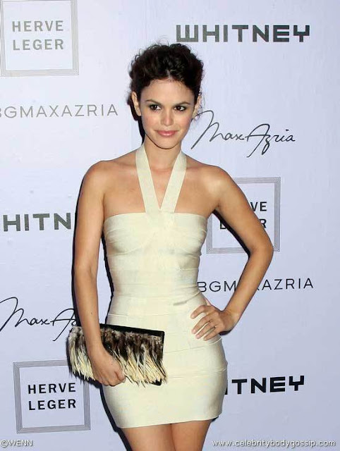 wearing a body-con mini, like this Herve Leger stunner? As Rachel Bilson