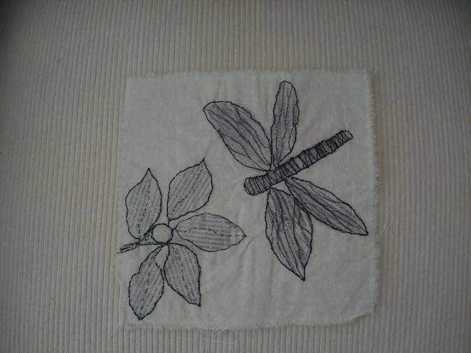 flor con libelula ll