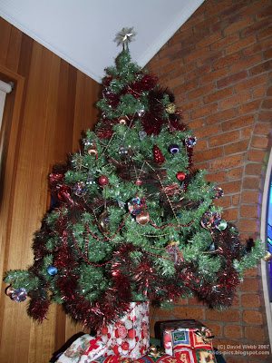 aussie (Australian) Christmas tree with decorations and star
