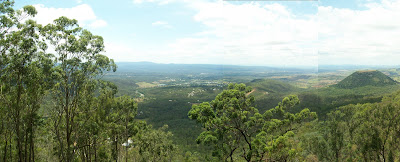 view of the valley vista from picnic point, toowoomba, queenland, australia.