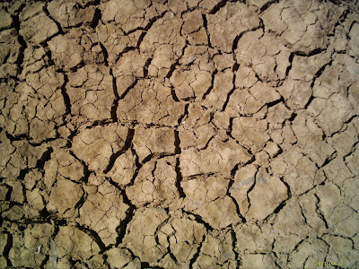 photo of cracked soil (dirt, earth) from lack of water during drought
