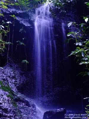 waterfall at goomburra - a blue veil