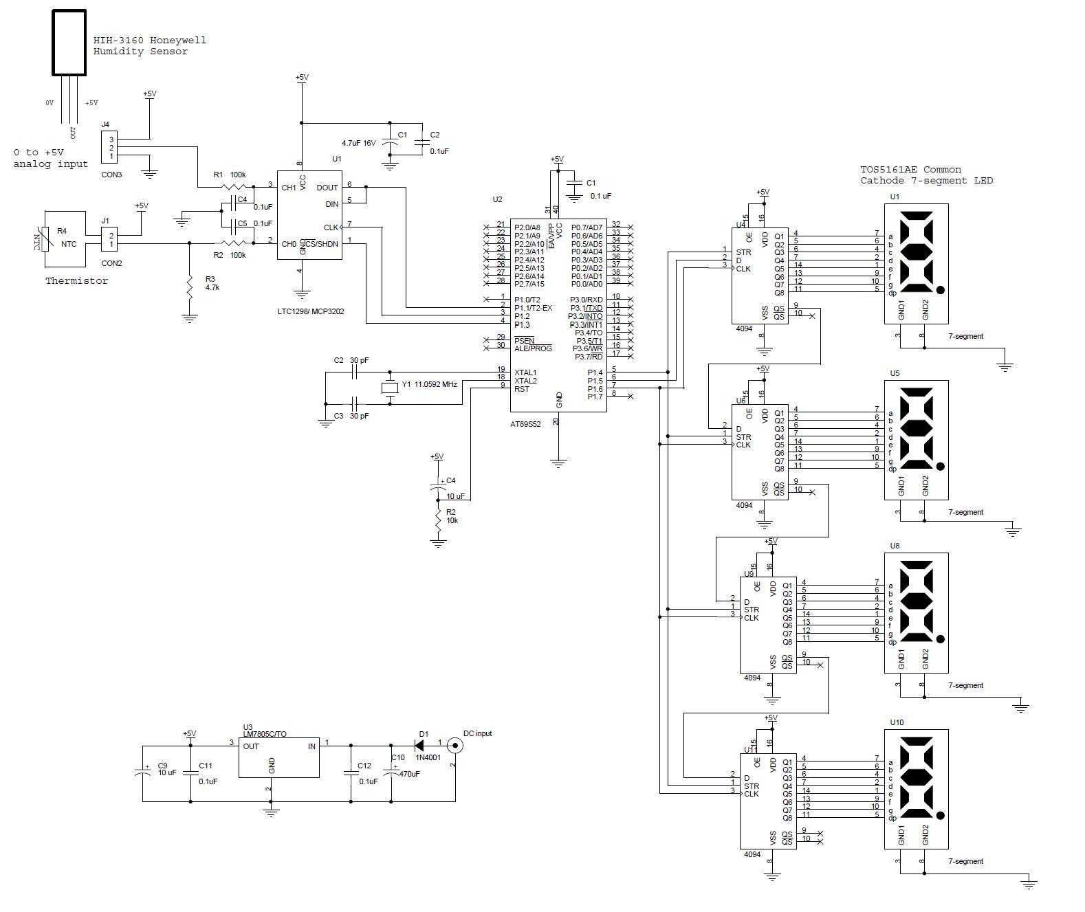 humidity sensor circuit a cmos humidity sensor for