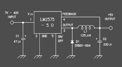 Rangkaian +5V Switching regulator