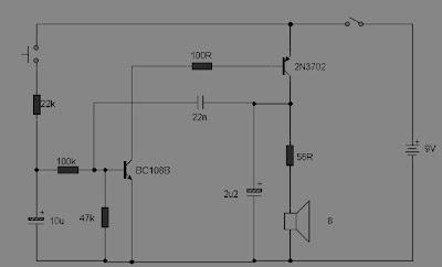 Rangkaian Sirine Sederhana 2 Transistor