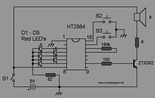 9 volt buzzer circuit diagram