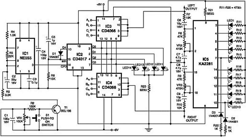 Rangkaian Audio Channel Selector Stereo Koleksi Skema