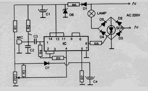 Berbagi Skema Elektronika: skema lampu disco 220v