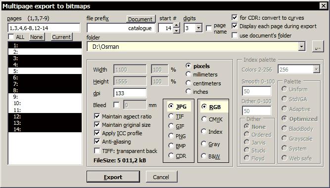 wOxxOm's CorelDRAW macros: updated macro: Bitmap Multipage