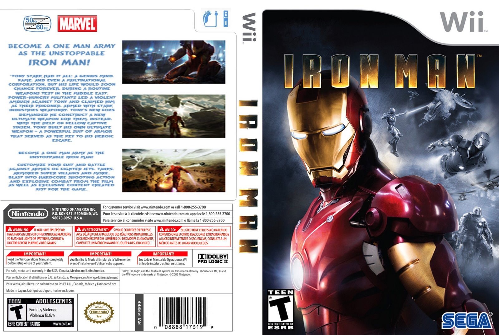 Iron Man The Game Nintendo Wii Completo 99