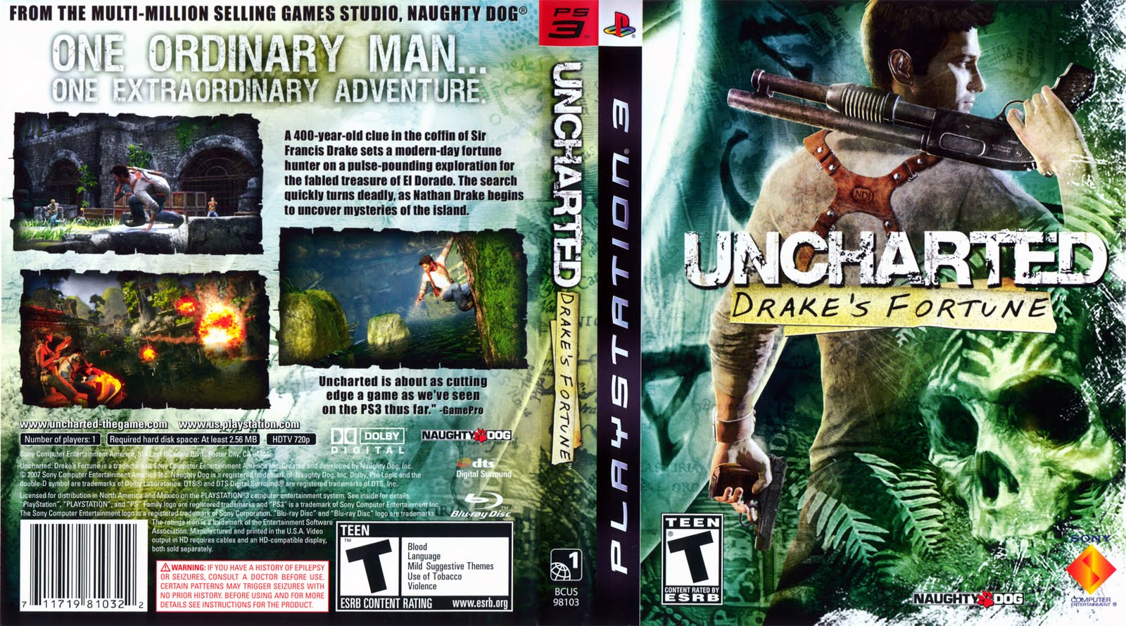 Games Covers: Uncharted - Drakes Fortune - PS3  Games Covers: U...