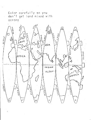 Always a teacher, Always a survivor: Make a globe: pattern