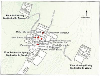 Mapa del Templo Madre de Bali