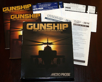 MicroProse Gunship Box