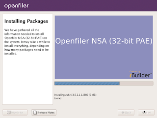 Open filer installation - installing packages