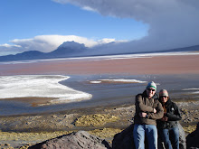 con Ray en Laguna colorada
