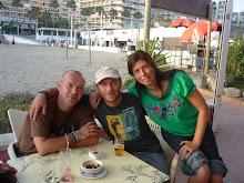 con mis compañeros de Perú