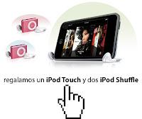 Sorteo IPop Touch y IPop Shuffle en Territorio Creativo
