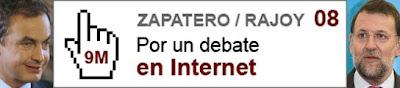 Se pide a Zapatero y Rajoy un debate en Internet