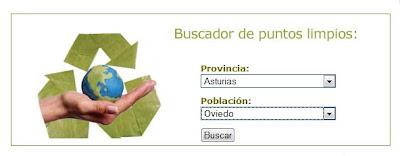 Buscador de puntos limpios en España
