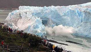 Los glaciares se derriten al
