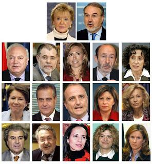 Zapatero confirma las cinco incorporaciones, los tres descartes y el paso de Chacón a Defensa