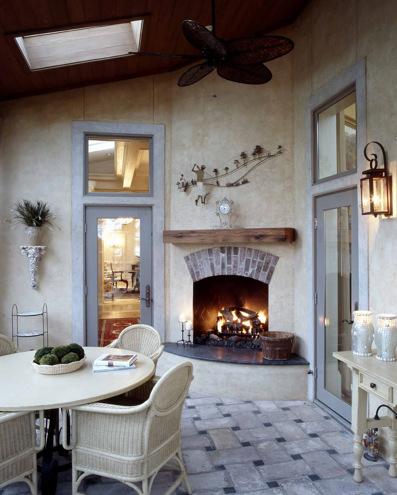 Corner Hearth: Lowcountry Architect: Outdoor Fireplaces