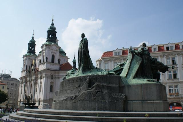 monumento art nouveau Jan Hus Praga