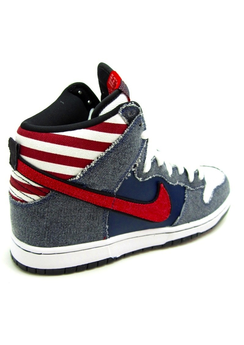 """huge discount 1017e fe5d8 On July 8th UNITE is dropping Nike SB s """"Born in the U.S.A"""" Dunk High  Premium. Fully equipped with a stars and stripes motif, the kicks pay  homage to the ..."""