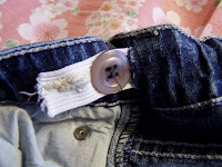 sew the button or make it adjustable! Fix those waist gaps on your pants!