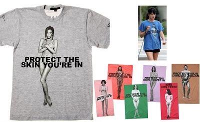 Victoria Beckham March Jacobs T-shirt'ünde