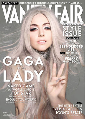Lady Gaga on the cover of September's Vanity Fair (UK Edition)